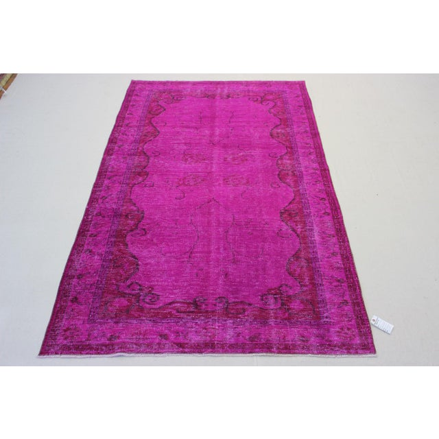 Turkish Oriental Over Dyed Rug- 5′4″ × 8′10″ - Image 4 of 8
