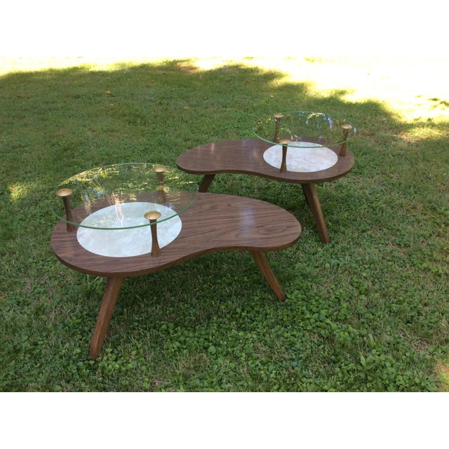 Mid-Century Formica & Glass End Table - Image 7 of 7