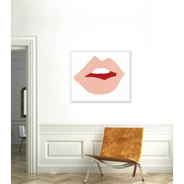"Medium ""Kiss Me (Pink)"" Print by Angela Chrusciaki Blehm, 37"" X 31"" - Image 2 of 2"