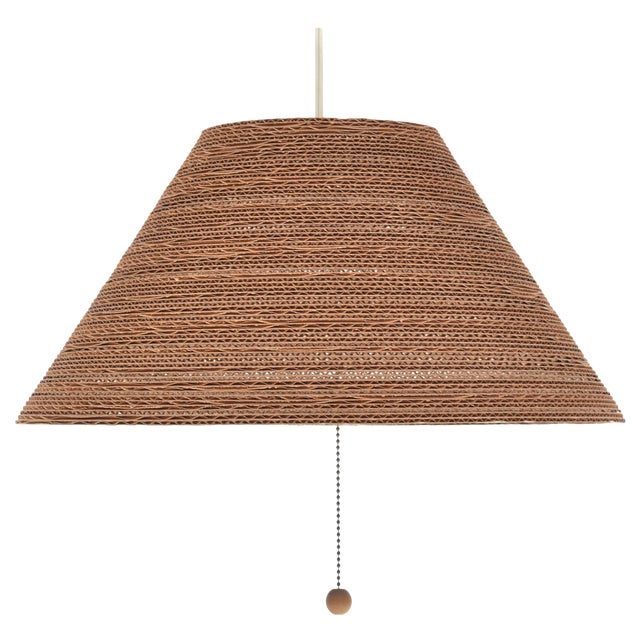 Gregory Van Pelt Corragated Cardboard Hanging Light For Sale