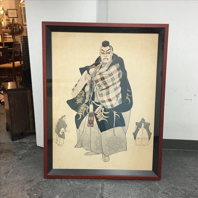 Framed Japanese Elder Print - Image 2 of 7