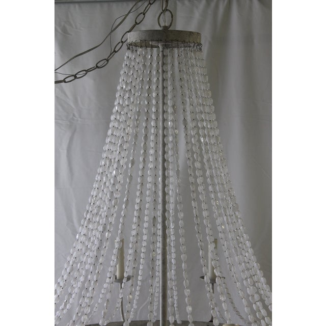 Luminism Napoli Style 'Aiden' Gray Draped Transparent Chandelier For Sale - Image 3 of 8