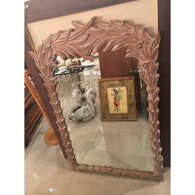 Vintage Palm Frond Wall Mirror - Image 6 of 9