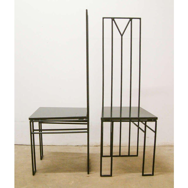 "Contemporary 1988 Maurice Beane Contemporary ""Retromac"" Chairs - A Pair For Sale - Image 3 of 11"
