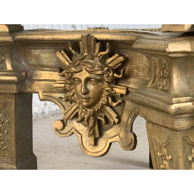 19th Century Set of Antique Andirons or Firedogs in Bronze and Iron For Sale - Image 9 of 13