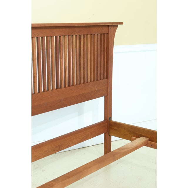 Stickley King Size Mission Cherry Spindle Bed For Sale - Image 12 of 13