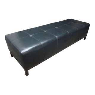 Large Scale Leather Tufted Bench