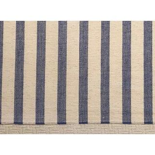 Old World Weavers Mascot Stripe Marine Blue Fabric Bolt For Sale