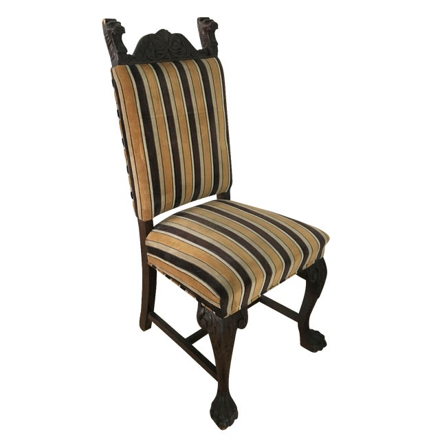Antique French Stripe Side Chairs - Set of 6 - Image 1 of 8
