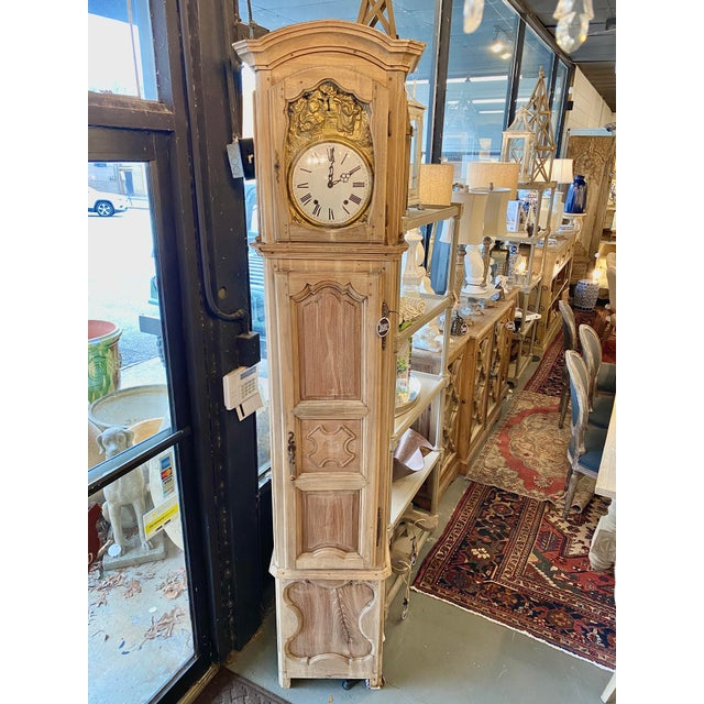 Tan 1830 French Provincial Grandfather Clock For Sale - Image 8 of 8