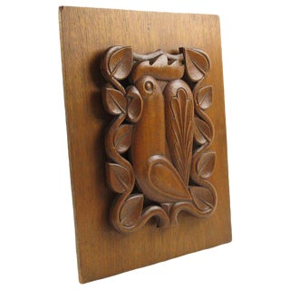 French Mid-Century Modern Wooden Wall Panel Sculpture