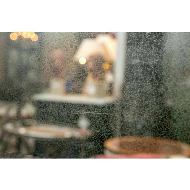 Bullseye Antiqued Framed Venetian Mirrors - Pair - Image 5 of 6