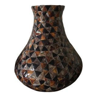 Large Vintage Formica Plastic Patched Pieces Jar For Sale