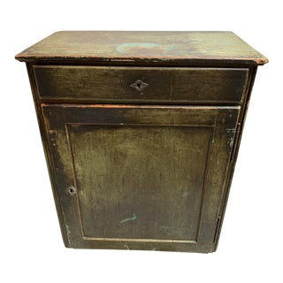 19th Century Primitive Painted Jelly Cabinet For Sale