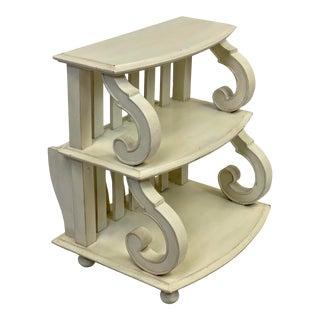 Fine Furniture Design Summer Home Scroll Magazine Side Table For Sale