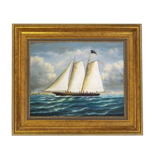 """America"" First Winner America's Cup Reproduction on Canvas Painting For Sale"