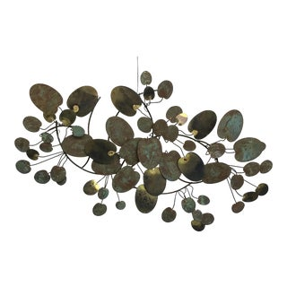 Curtis Jere Lily Pad 3-Dimensional Modern Art Wall Sculpture For Sale