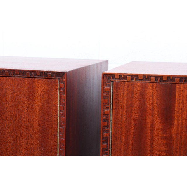 """Art Deco Frank Lloyd Wright """"Taliesin"""" Nightstands for Henredon For Sale - Image 3 of 11"""