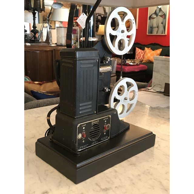 Custom Vintage Movie Projector Table Lamp For Sale In Miami - Image 6 of 9