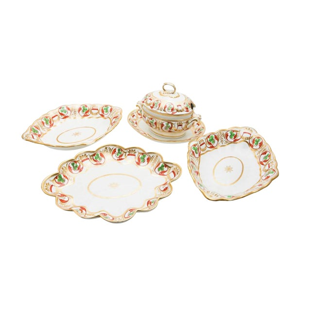 Early 19th Century Derby Dishes - Set of 4 For Sale