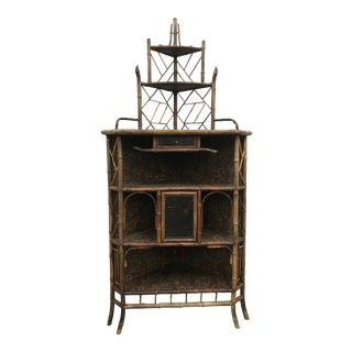 19th Century Bamboo Etagere For Sale