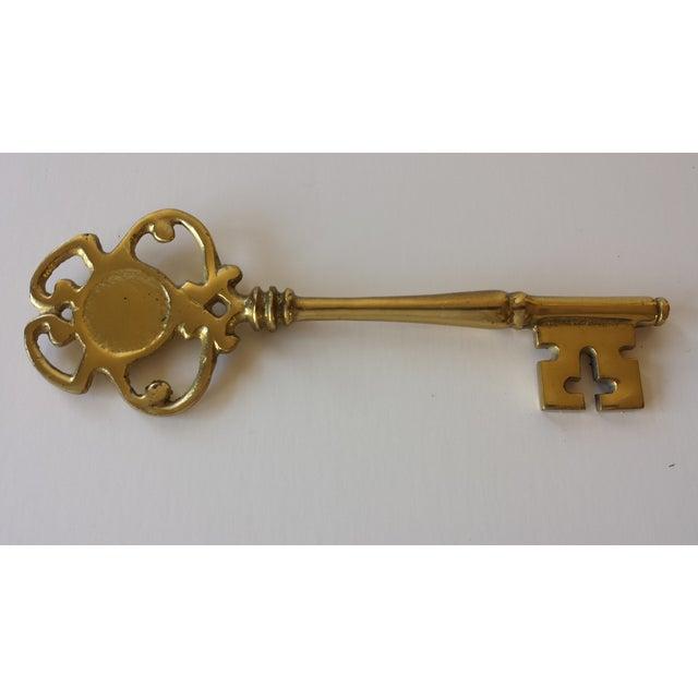 Vintage Brass Skeleton Key - Image 2 of 3