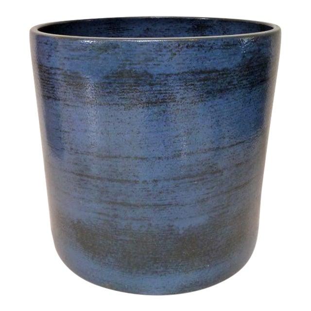 Gainey Ceramics Mid Century Modern Blue Planter For Sale