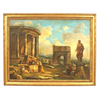 Italian Neo-Classic Landscape of Ancient Ruins For Sale