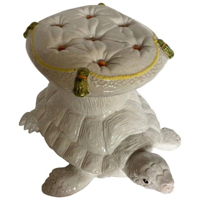 Italian Glazed Terracotta Turtle Table - Image 1 of 5