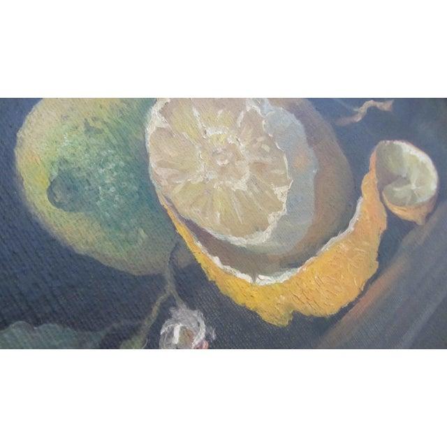 Lemon Still Life Original Oil by Hansen - Image 5 of 10