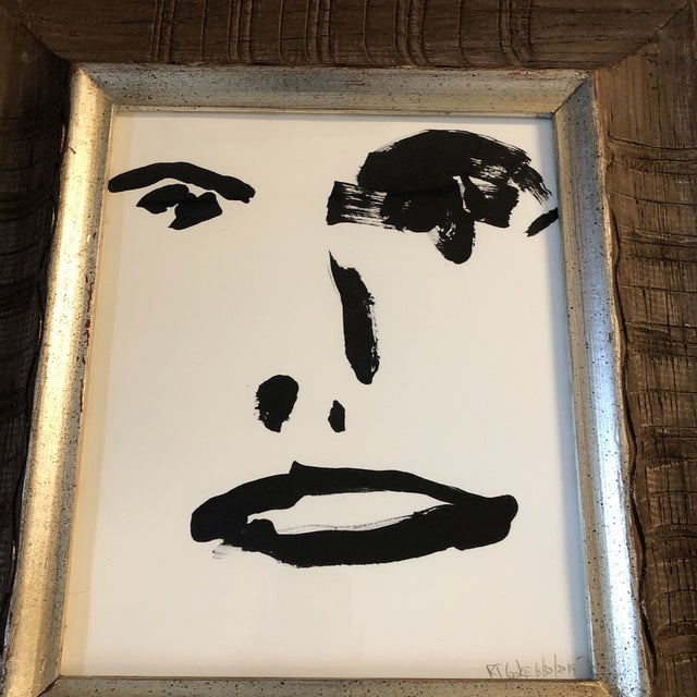 Abstract Original Contemporary Robert Cooke Abstract Face Painting For Sale - Image 3 of 6