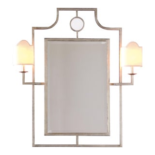 "Doheny Silver Mirror With Sconces 46""h For Sale"