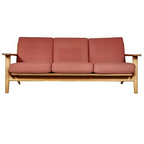 Hans J. Wegner for GETAMA Three Seat Sofa in Oak GE 290 - Image 2 of 10