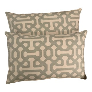 Sunbrella Lumbar Pillows - A Pair For Sale