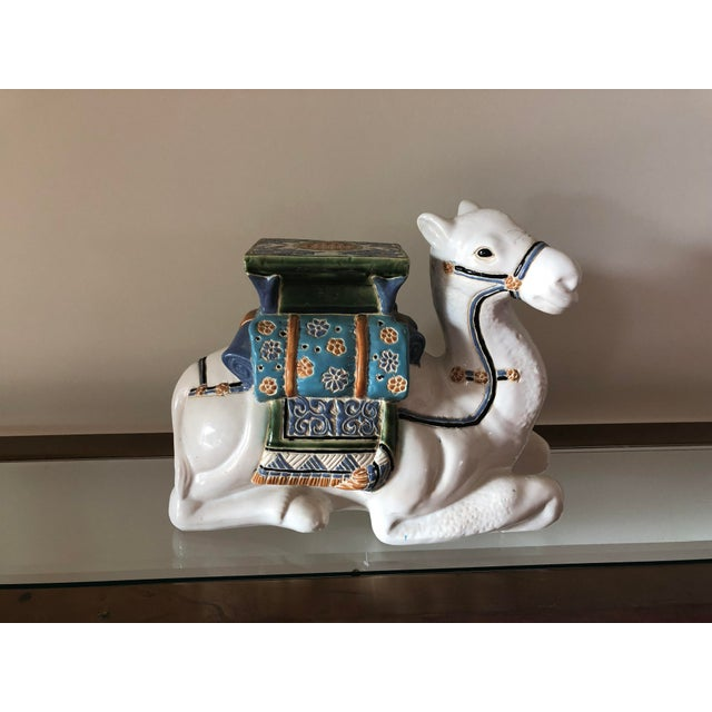 Traditional Ceramic Camel Garden Stool For Sale In San Francisco - Image 6 of 6