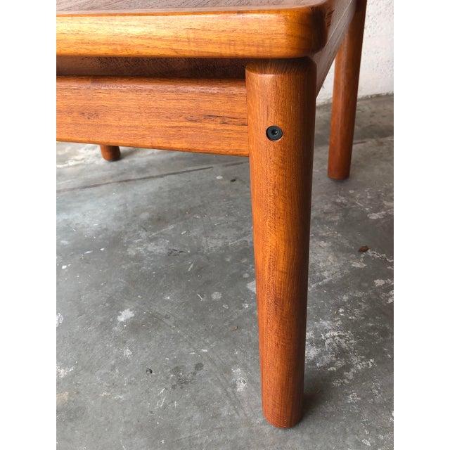 Wood Vintage Mid Century Danish Modern Teak Side Table by Trioh Mobler Denmark For Sale - Image 7 of 11