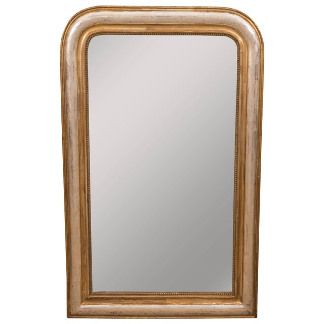 Gold Giltwood and Silvered Louis Philippe Mirror For Sale - Image 8 of 8