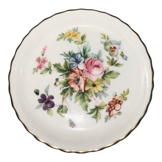 1970s Cottage Marlow Minton Bone China Pin Dish For Sale