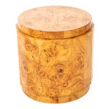 Image of Mid-Century Modern Edward Wormley for Dunbar Burl Olive Wood Side Table For Sale