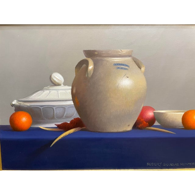 """1990s 1990s """"Arrangement of Two Tempe Oranges and a Fuji Apple"""" Still Life Oil Painting by Robert Douglas Hunter, Framed For Sale - Image 5 of 8"""