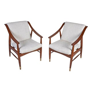 Mid-Century Modern Danish Teak Chairs- A Pair For Sale