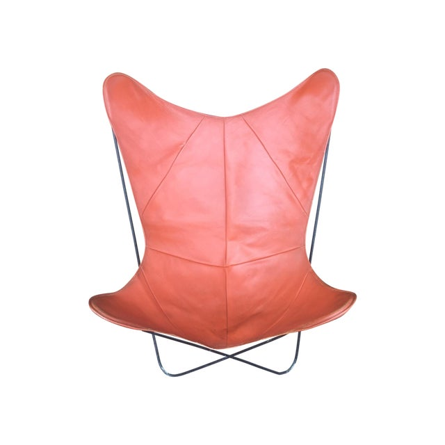 Mid-Century Leather Butterfly Chair - Image 1 of 7