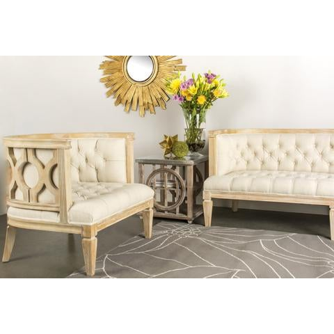 Lily Barrel Accent Chair For Sale - Image 4 of 4