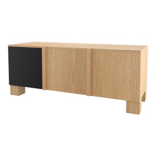 Contemporary 101 Storage in Oak and Black by Orphan Work, 2019 For Sale