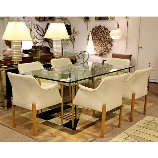 Giorgetti Contemporary Modern Set 8 Giorgetti Progetti Italian Wood Dining Armchairs 1990s For Sale - Image 4 of 7