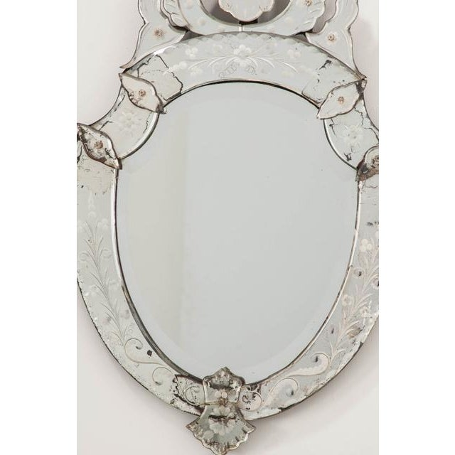 Late 19th Century Venetian Shield Form Wall Mirror For Sale - Image 4 of 10