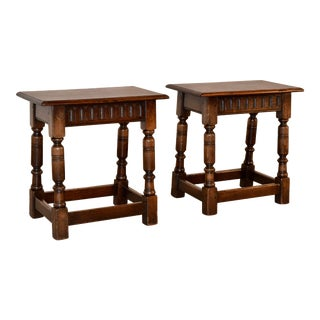 Pair of 19th C. Joint Stools From England For Sale