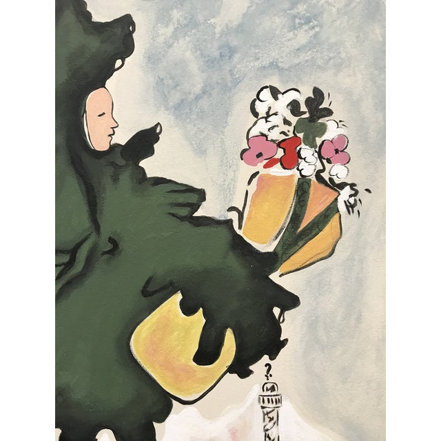 American Schiaparelli Shocking Pafum Perfume Advertising Recrafted Redesigned Painting Attributed Marccel Vertes For Sale - Image 3 of 7