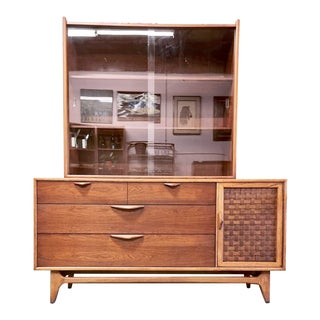 1960s Lane Mid Century Modern Display Cabinet For Sale