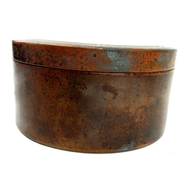 Rustic Colgate & Co Antique Brass Canister For Sale - Image 3 of 7